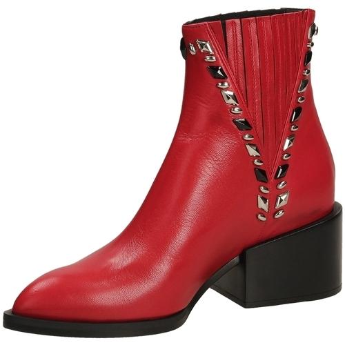 Schoenen Dames Enkellaarzen Giampaolo Viozzi MAXIME scoot-rosso