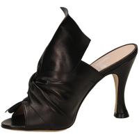 Schoenen Dames Leren slippers Mivida NAPPA nero-nero