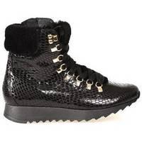 Schoenen Dames Hoge sneakers Hassia Madrid k wijdte los voetbed Zwart