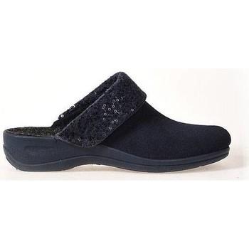 Schoenen Dames Sloffen Rohde MICROVELOUR Blauw