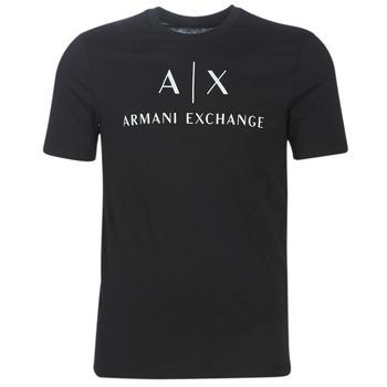 Textiel Heren T-shirts korte mouwen Armani Exchange 8NZTCJ-Z8H4Z-1200 Zwart