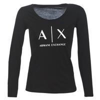 Textiel Dames T-shirts met lange mouwen Armani Exchange 8NYTDG-YJ16Z-1200 Zwart