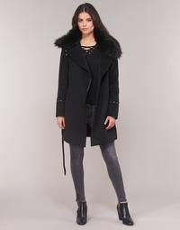 Textiel Dames Mantel jassen Moony Mood LITEA Zwart