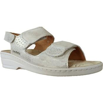 Schoenen Dames Sandalen / Open schoenen Mobils By Mephisto Roselie Leer platina