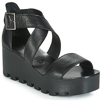 Schoenen Dames Sandalen / Open schoenen Sweet Lemon SUBWAY Zwart