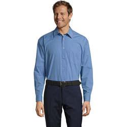 Textiel Heren Overhemden lange mouwen Sols BALTIMORE FASHION WORK Azul