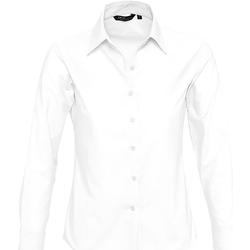 Textiel Dames Overhemden Sols EMBASSY OXFORD GIRL Blanco