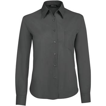 Textiel Dames Overhemden Sols EXECUTIVE POPELIN WORK Gris