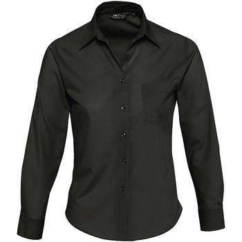 Textiel Dames Overhemden Sols EXECUTIVE POPELIN WORK Negro