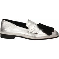 Schoenen Dames Mocassins Lemaré CAMOSCIO/LAMINATO argento-nero