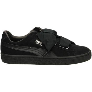 Schoenen Dames Lage sneakers Puma SUEDE HEART EP blamb-nero