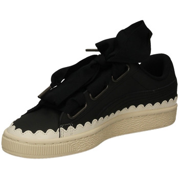 Schoenen Dames Lage sneakers Puma BASKET HEART SCALLOP black-nero