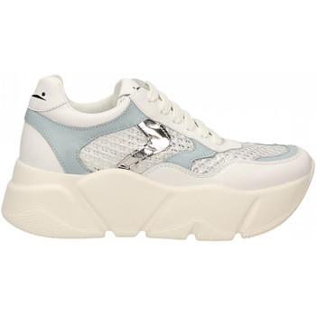 Schoenen Dames Lage sneakers Voile Blanche MONSTER MESH bianco-argento