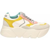 Schoenen Dames Lage sneakers Voile Blanche CREEP bianco-giallo