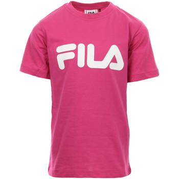 Textiel Meisjes T-shirts korte mouwen Fila Kids Classic Logo Tee