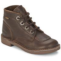 Schoenen Kinderen Laarzen Kickers KICK COL Bruin