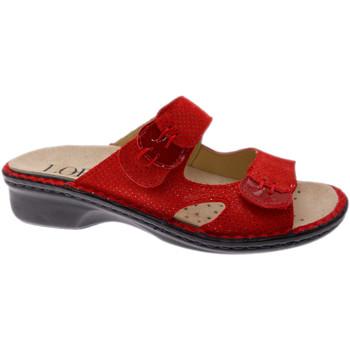 Schoenen Dames Leren slippers Calzaturificio Loren LOM2772ro rosso