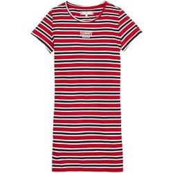 Textiel Meisjes Korte jurken Tommy Hilfiger MULTI STRIPE KNIT DRESS S/S Rojo