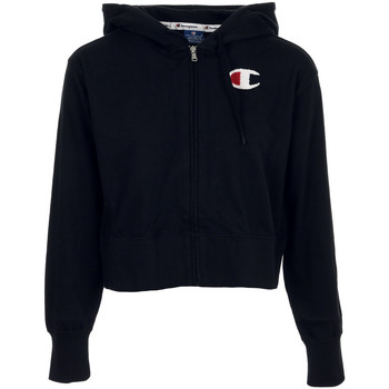 Textiel Dames Sweaters / Sweatshirts Champion Hooded Full Zip Sweatshirt Zwart
