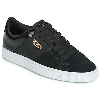 Schoenen Dames Lage sneakers Puma BASKET REMIX Zwart / Goud