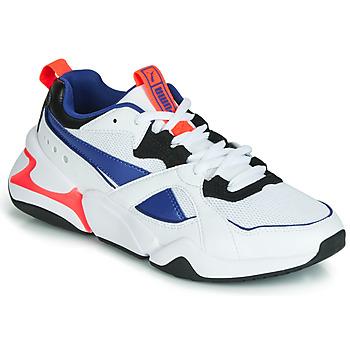 Schoenen Dames Lage sneakers Puma NOVA 2 Wit / Blauw