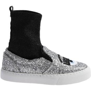 Schoenen Dames Hoge sneakers Chiara Ferragni CF 2094 SILVER-BLACK argento