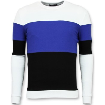 Textiel Heren Sweaters / Sweatshirts Enos Streep Zwart, Wit, Blauw