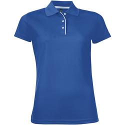 Textiel Dames Polo's korte mouwen Sols PERFORMER SPORT WOMEN Azul