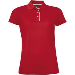 Textiel Dames Polo's korte mouwen Sols PERFORMER SPORT WOMEN Rojo