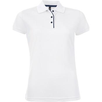 Textiel Dames Polo's korte mouwen Sols PERFORMER SPORT WOMEN Blanco