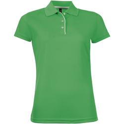 Textiel Dames Polo's korte mouwen Sols PERFORMER SPORT WOMEN Verde