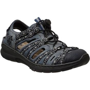 Schoenen Dames Sandalen / Open schoenen Rieker L32p8 Jeans / zwart