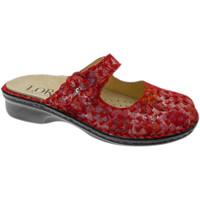 Schoenen Dames Leren slippers Calzaturificio Loren LOM2709ro rosso