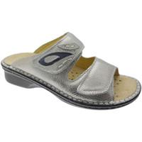 Schoenen Dames Leren slippers Calzaturificio Loren LOM2724ar grigio