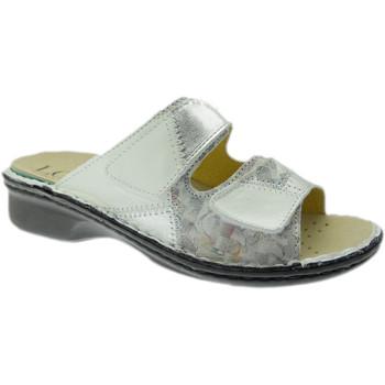 Schoenen Dames Leren slippers Calzaturificio Loren LOM2768bi grigio