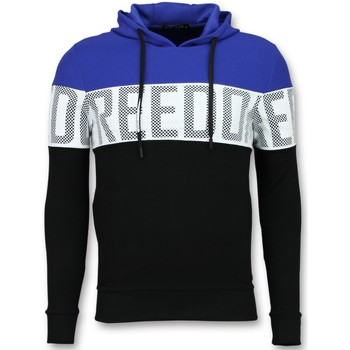 Textiel Heren Sweaters / Sweatshirts Enos Striped Hooded Swea Hoodies Zwart, Blauw