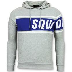Textiel Heren Sweaters / Sweatshirts Enos Trui Met Capuchon - Grijze Hoodie - Grijs