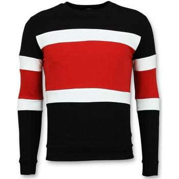 Textiel Heren Truien Enos Striped Mens Zwart, Rood
