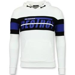 Textiel Heren Sweaters / Sweatshirts Enos Sweater Met Capuchon - Striped Hoodie - Wit