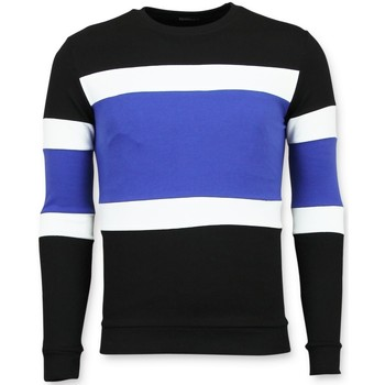 Textiel Heren Truien Enos Striped Mens Zwart, Blauw