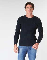 Textiel Heren Truien Gant COTTON CABLE CREW Marine