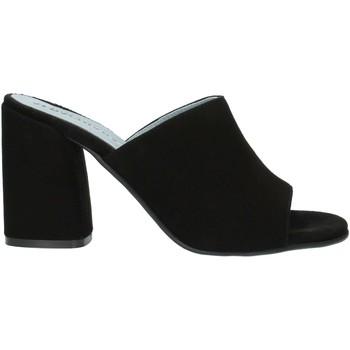 Schoenen Dames Leren slippers Albachiara NC82 Black