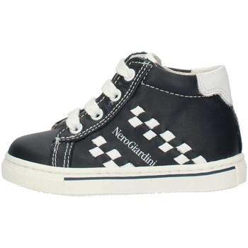Schoenen Jongens Hoge sneakers Nero Giardini P724142M Blue and white