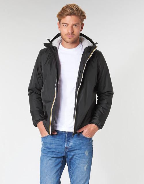Textiel Heren Wind jackets K-Way LE VRAI 3.0 CLAUDE ORSETTO Zwart