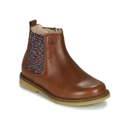 Schoenen Meisjes Laarzen Acebo's 5274-CUERO Bruin