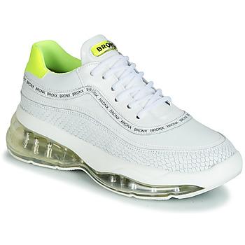 Schoenen Dames Lage sneakers Bronx BUBBLY Wit / Geel