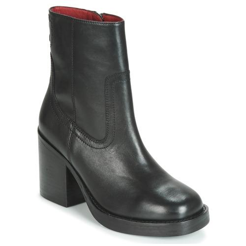 Schoenen Dames Enkellaarzen Bronx BULA VARD Zwart