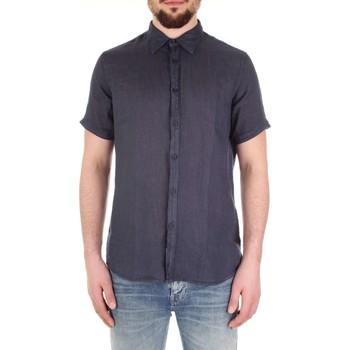 Textiel Heren Overhemden korte mouwen Fred Mello FM19S27CU Blu