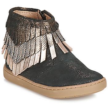Schoenen Meisjes Laarzen Shoo Pom PLAY HURON Zwart / Zilver