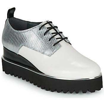Schoenen Dames Derby United nude JUKO POP Wit / Zilver